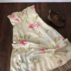 Betsey Johnson NY strapless silk midi dress